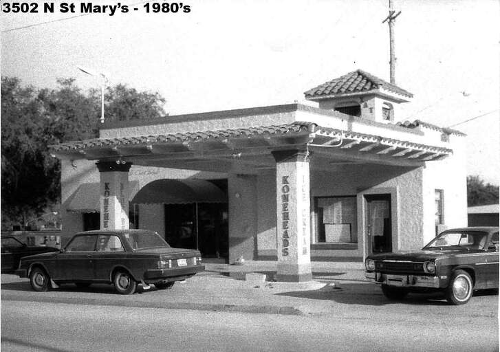 The 1926 station at 3502 N. St. Mary's in the 1980s.