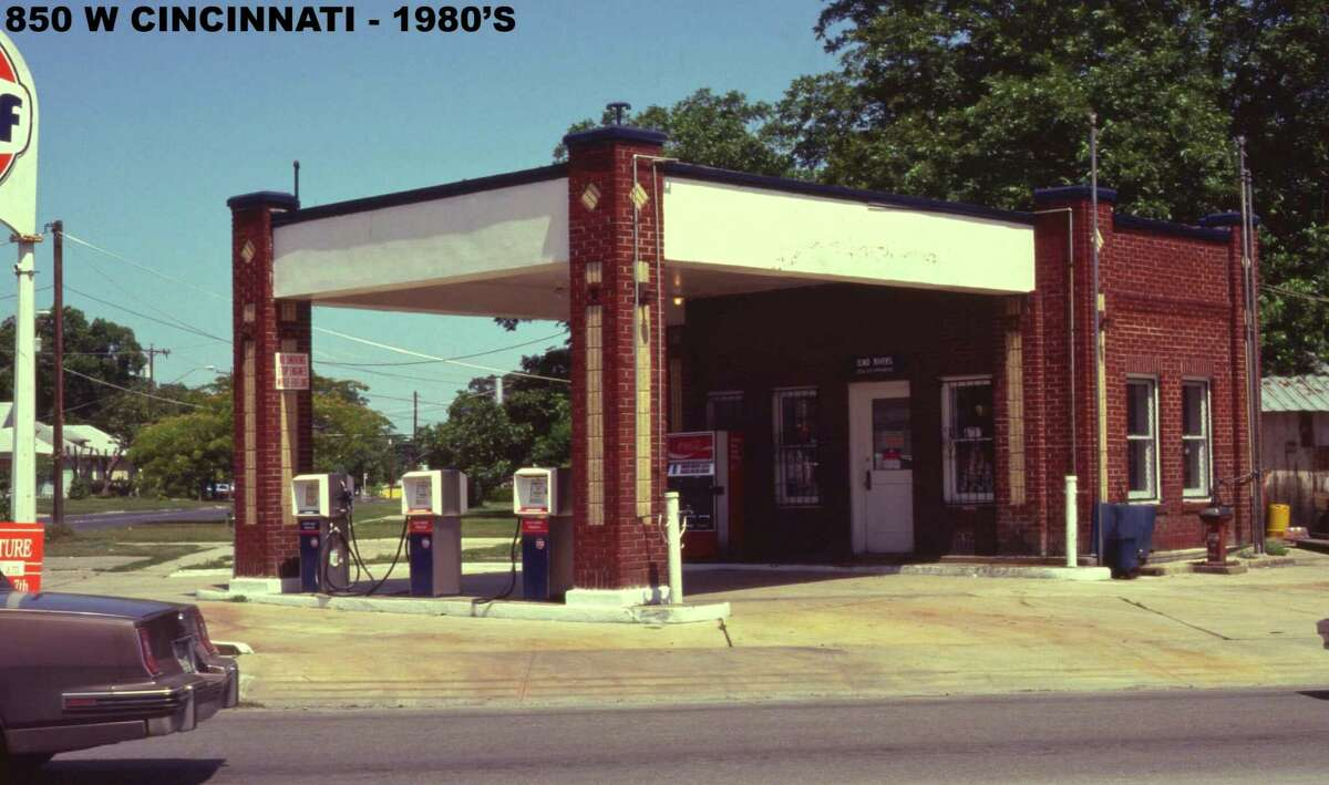 The 1936 Gulf station at 850 W. Cincinnati, in the 1980s.