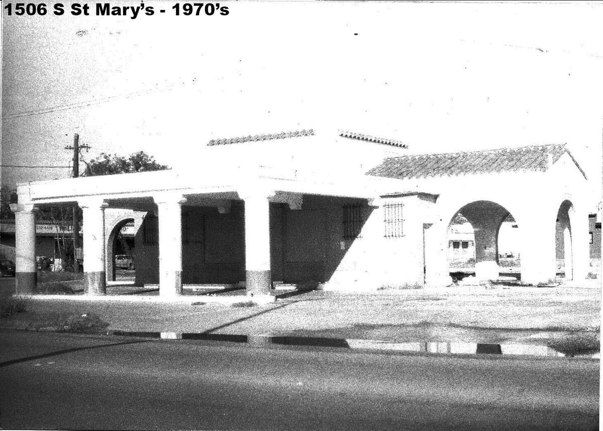 The 1938 Magnolia station at 1506 S. St. Mary's in the 1970s.