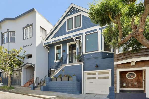 18 Montezuma St. in Bernal Heights is a refreshed four-bedroom with views of downtown throughout.