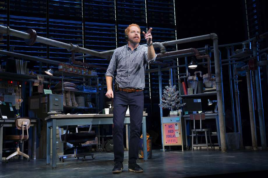 "Jesse Tyler Ferguson of ABC's ""Modern Family"" plays a man who arranges five-star restaurant reservations for five-star people in ""Fully Committed"" at the Lyceum Theatre on Broadway. Photo: SARA KRULWICH, NYT"