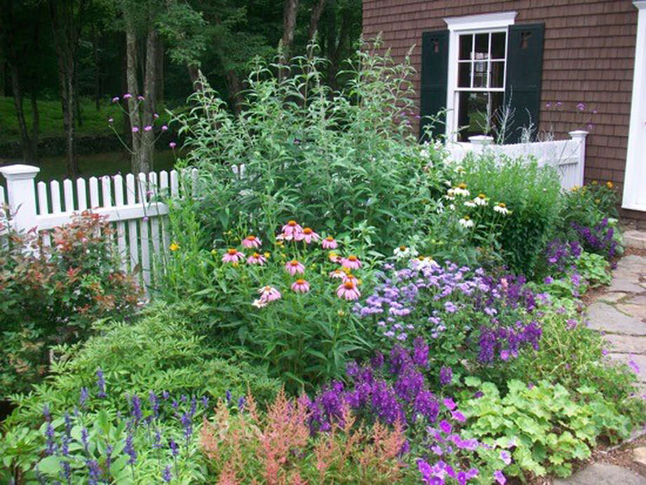 A colorful flower garden designed by Bridge Nursery in Greenwich. Photo: Contributed Photo / Connecticut Post contributed