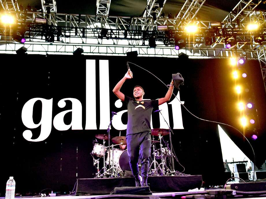 R&B artist Gallant sings during the first day of the Coachella Valley Music and Arts Festival this month. Photo: Mike Windle, Getty Images For Coachella