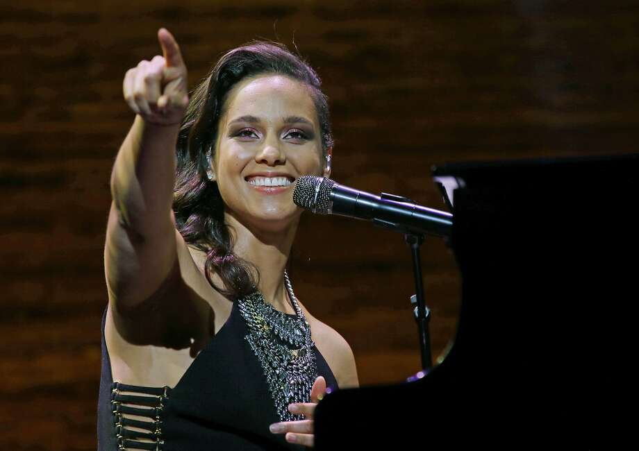 FILE - In this March 23, 2016 file photo, singer Alicia Keys performs at the coffee company's annual shareholders meeting in Seattle. Keys will debut new music at the upcoming UEFA Champions League Final in Milan, Italy on May 28. (AP Photo/Ted S. Warren, File) Photo: Ted S. Warren, Associated Press