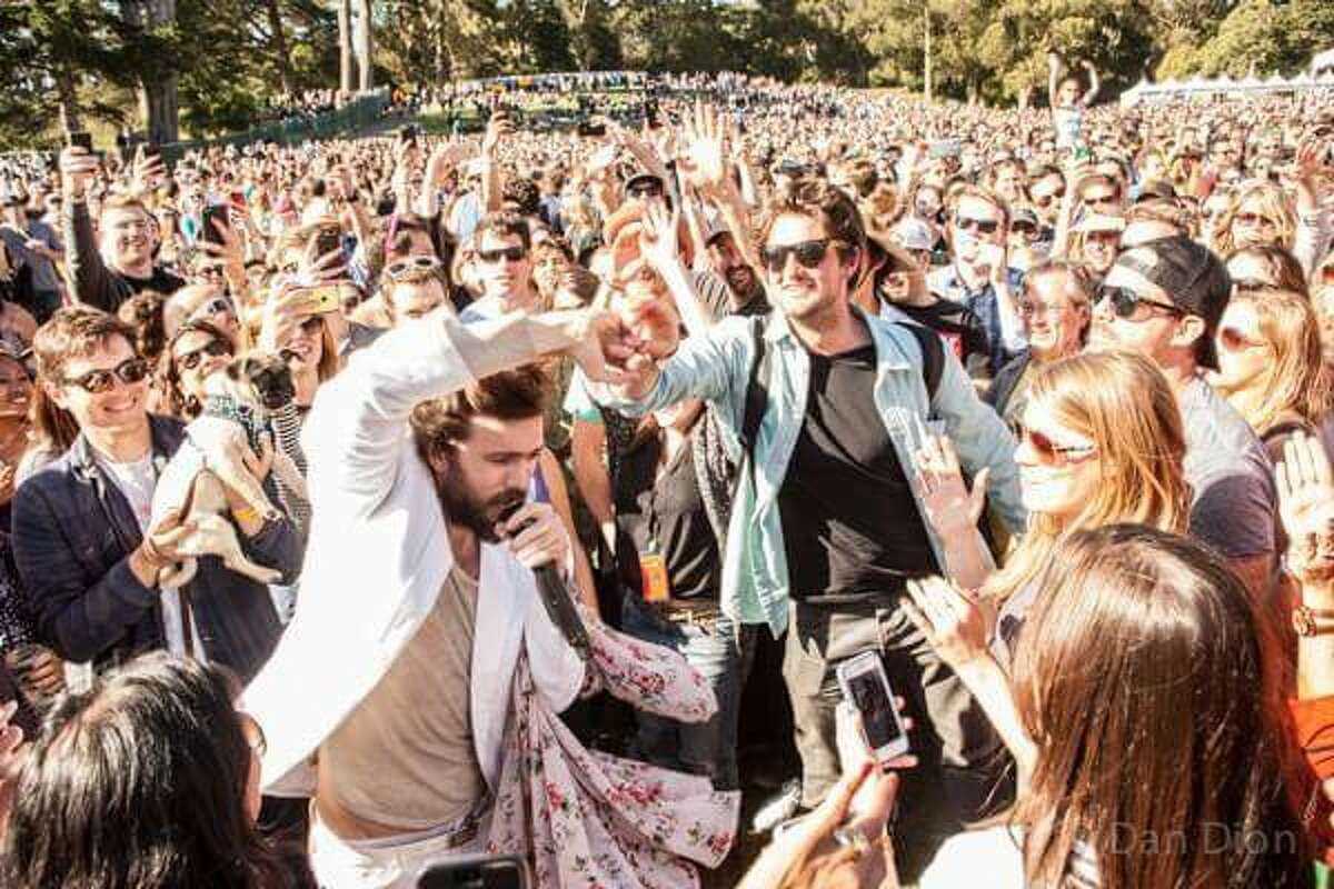 The 17th annual San Francisco Oysterfest is Saturday, May 7, with Chromeo as the headlining act. Past musical guests have included Edward Sharpe and the Magnetic Zeros (pictured is frontman Alex Ebert from 2014), Stone Temple Pilots, Flogging Molly and others.