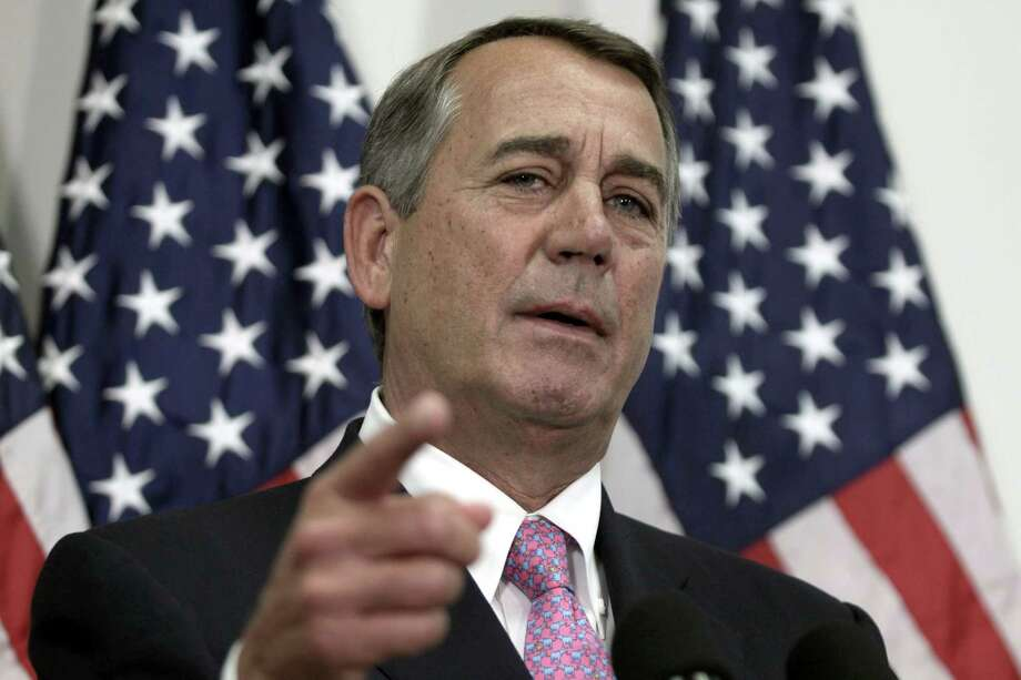 """FILE - In this Oct. 27, 2015 file photo, then-House Speaker John Boehner of Ohio talks with reporters on Capitol Hill in Washington. Boehner unloaded on Republican presidential candidate Ted Cruz during a talk to college students, calling the Texas senator """"Lucifer in the flesh."""" Speaking at a town hall-style event at Stanford University Wednesday, April 27, 2016, Boehner called front-runner Donald Trump his """"texting buddy,"""" but offered a more graphic response when asked about Cruz.  (AP Photo/Lauren Victoria Burke, File) ORG XMIT: WX105 Photo: Lauren Victoria Burke / FR132934 AP"""