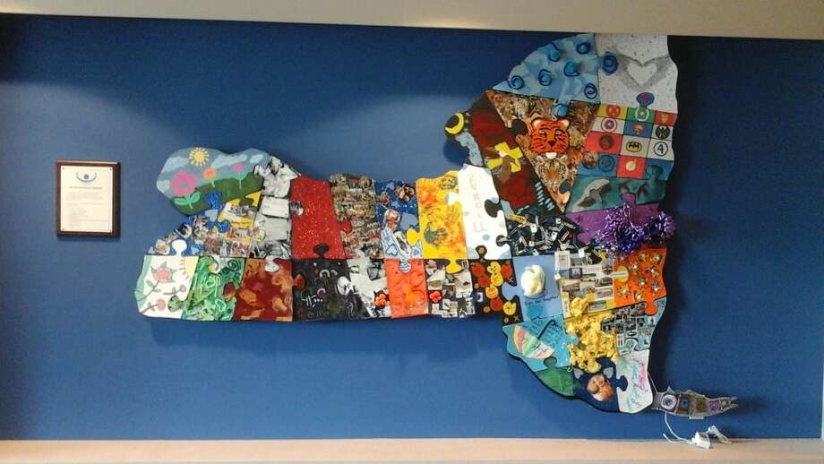The 2016 Capital Capabilities Community Project — a huge puzzle in the shape of New York state — was recently unveiled at the Schenectady Jewish Community Center. (Schenectady JCC)