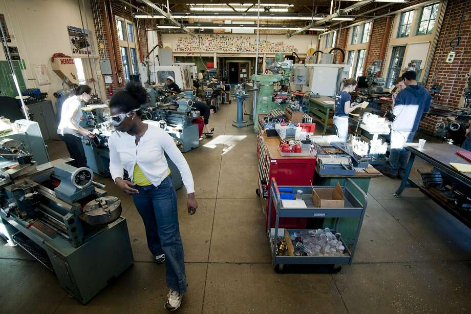 Students can learn laser cutting, 3D scanning, electronics, machining, welding, woodworking and sewing at the lab. Photo: Linda A. Cicero / Stanford News
