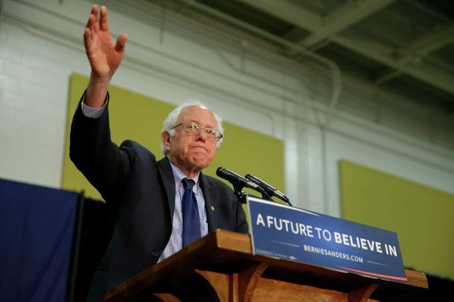 Democratic presidential candidate, Sen. Bernie Sanders, I-Vt. speaks during a rally at Purdue University in West Lafayette, Ind., Wednesday, April 27, 2016. (AP Photo/Michael Conroy) ORG XMIT: INMC109 Photo: Michael Conroy / Copyright 2016 The Associated Press. All rights reserved. This m