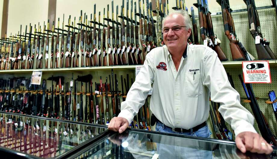 In this April 18, 2016 photo, Jay Wallace, founder of Adventure Outdoors, poses for a portrait in Smyrna, Ga. Wallace was among a group of gun dealers once sued by then-New York Mayor Michael Bloomberg over allegations of allowing illegal sales of firearms. (AP Photo/Lisa Marie Pane) ORG XMIT: NY322 Photo: Lisa Marie Pane / Copyright 2016 The Associated Press. All rights reserved. This m