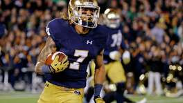 Notre Dame's Will Fuller is a lightning-fast deep threat who had 30 touchdown catches in his college career. After running the 40-yard dash in 4.32 seconds at the NFL scouting combine, he zoomed up draft boards.