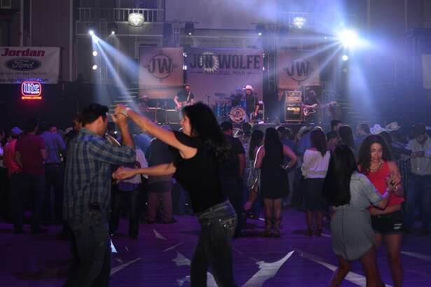 Country music lovers two-stepped and twirled to the songs of Jon Wolfe at Cowboys Dancehall, April 28, 2016.
