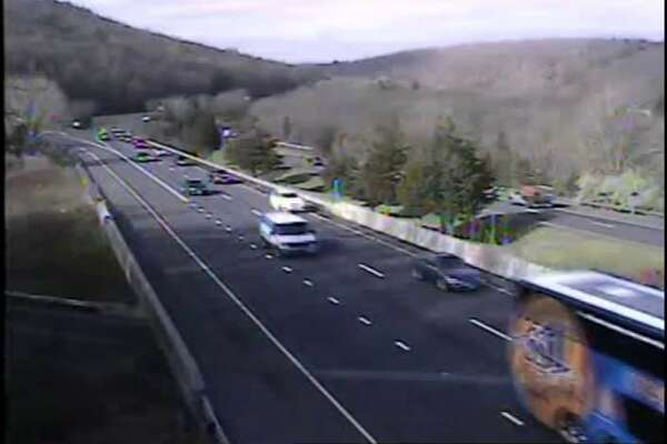 Interstate 84 in Southbury on Friday morning.