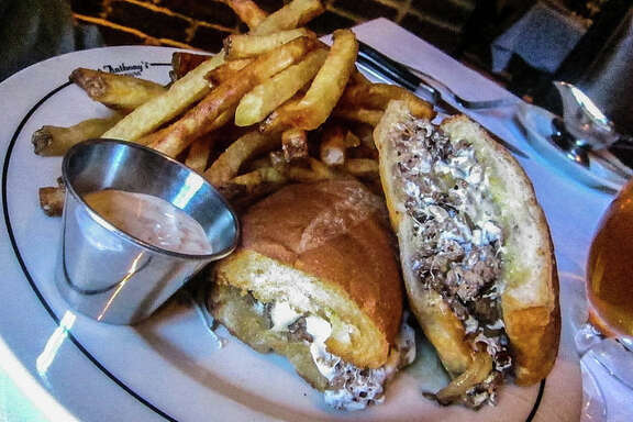 Shaved filet cheesesteak at Vic & Anthony's.