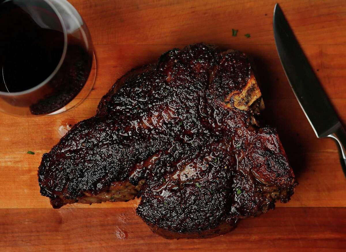 A 50-ounce porterhouse at Killen's Steakhouse