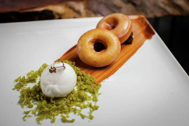 NOTE: THIS PHOTO IS FOR TOP 100 RESTAURANTS GUIDE. DO NOT USE BEFORE 09/24/2015. Kuu: Dessert doughnuts Kuu restaurant's gelato and doughnut dessert. Photographed, Tuesday, July 14, 2015, in Houston. ( Nick de la Torre )