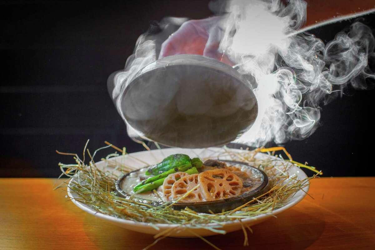 Lotus root and chiles at Kuu