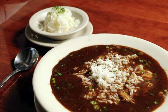 The gumbo at Danton's Gulf Coast Kitchen Tuesday Dec. 17, 2013. (Dave Rossman photo)