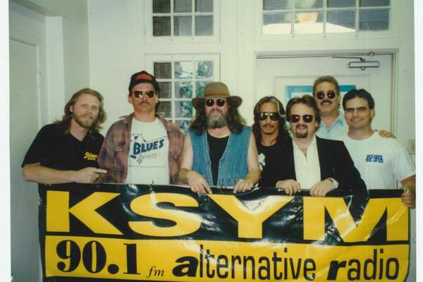 The oldest community college radio station in Texas, KSYM-FM has been broadcasting from San Antonio College since 1946. The station shared photographs of pledge drives, live broadcasts and events from the 1989 to 2001.