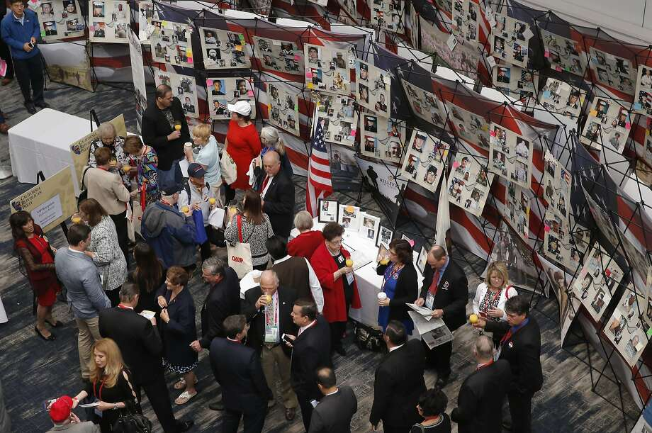 People gather during the kick off for the California Republican Party convention on Friday in Burlingame. The convention may have had less impact than many party leaders hoped for. Photo: Michael Macor, The Chronicle