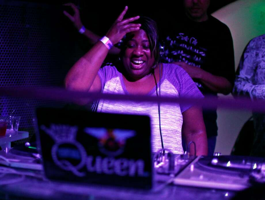 """Funkstress"" Pam Warren at a memorial tribute to Prince. Photo: Scott Strazzante, The Chronicle"