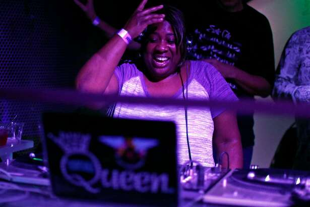 """Pam Warren, aka """"Pam the Funkstress,"""" during When Doves Cry : A Dance Night Tribute Party to Prince at 1015 Folsom in San Francisco, Calif., on Thursday, April 28, 2016."""