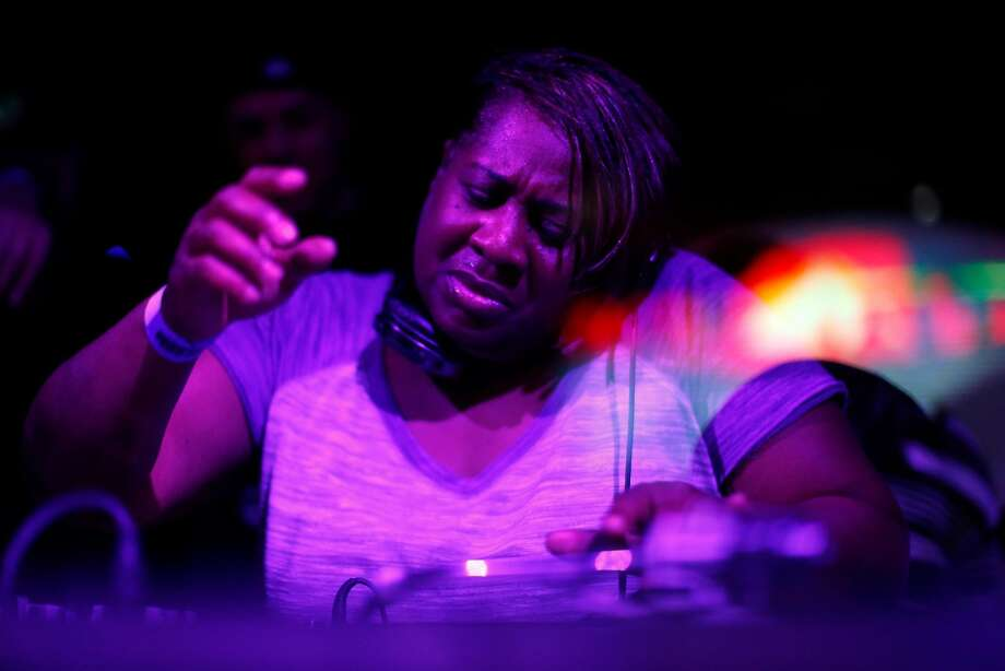 """Pam Warren, aka """"Pam the Funkstress,"""" during When Doves Cry : A Dance Night Tribute Party to Prince at 1015 Folsom in San Francisco, Calif., on Thursday, April 28, 2016. Photo: Scott Strazzante, The Chronicle"""