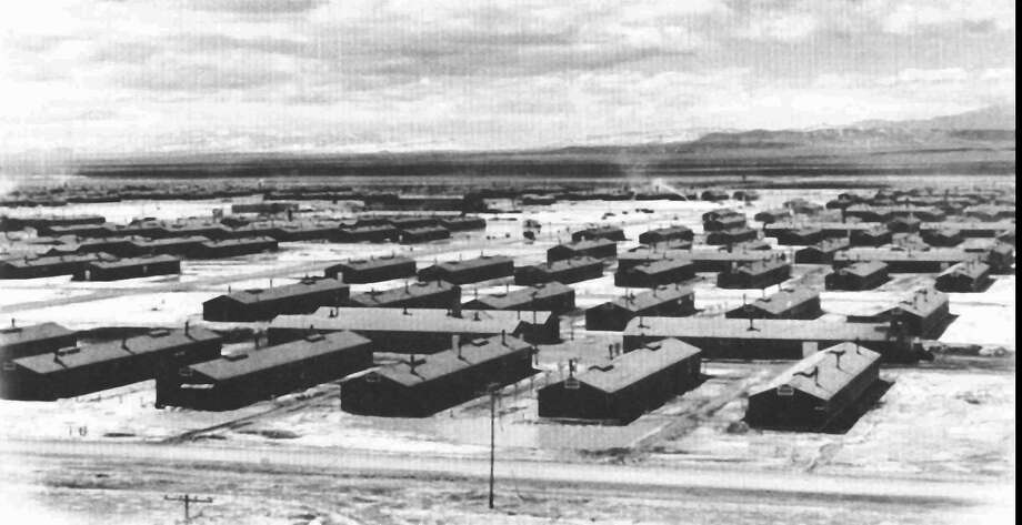 The Topaz internment camp in Topaz, in Utah's bleak Sevier Desert, 140 miles southwest of Salt Lake City is shown in this 1943 photo. Most of the central Utah camp that once held over 8,000 Japanese-American prisoners has been purchased by a group of local residents, former Topaz internees and Japanese-American citizens to preserve it indefinitely as a reminder of WWII. Photo: Anonymous, AP