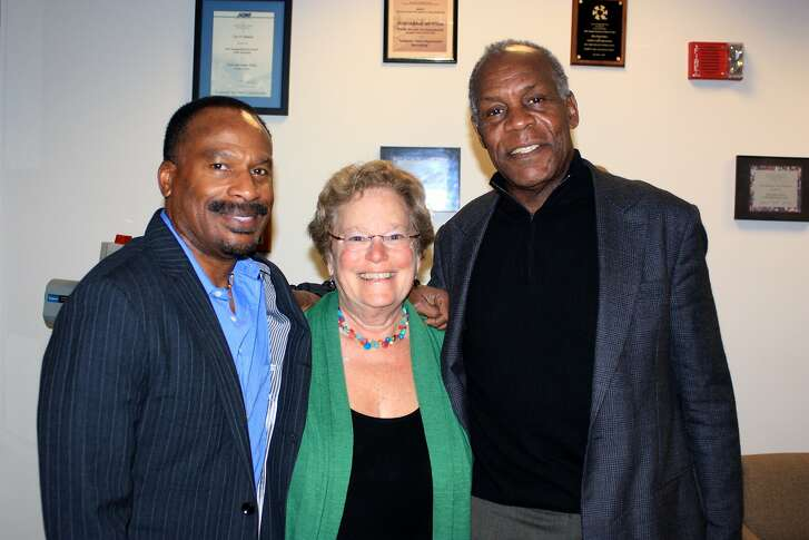 """Left to right: """"Agents of Change"""" director Frank Dawson, """"Agents of Change"""" director Abby Ginzberg, and documentary participant Danny Glover. Photo courtesy of Agents of Change."""