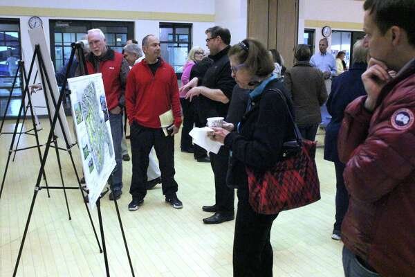 "Residents reviewed a proposed ""cultural center"" proposal for the 30 acres of town owned land that used to be owned by the Schlumberger company. The plan was presented at a meeting on Thurs., April 28 at the Ridgefield Parks and Recreation Center."