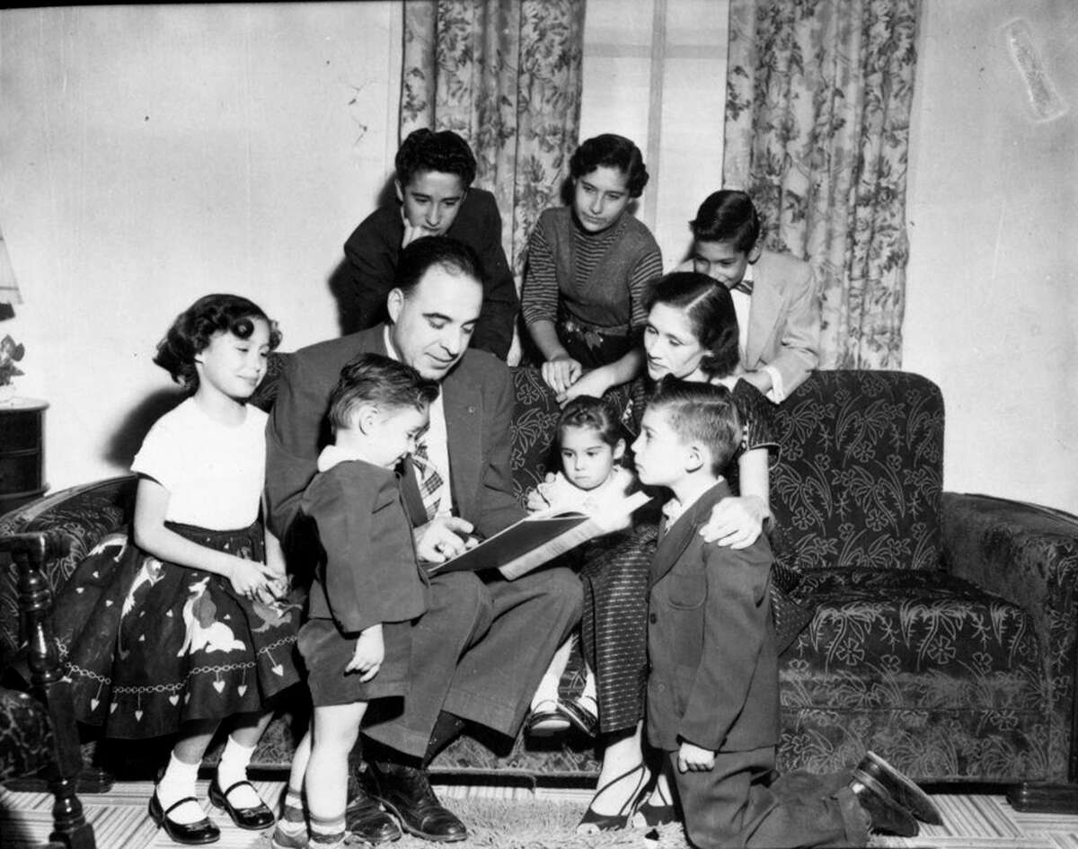 Henry B Gonzalez and family in 1956.