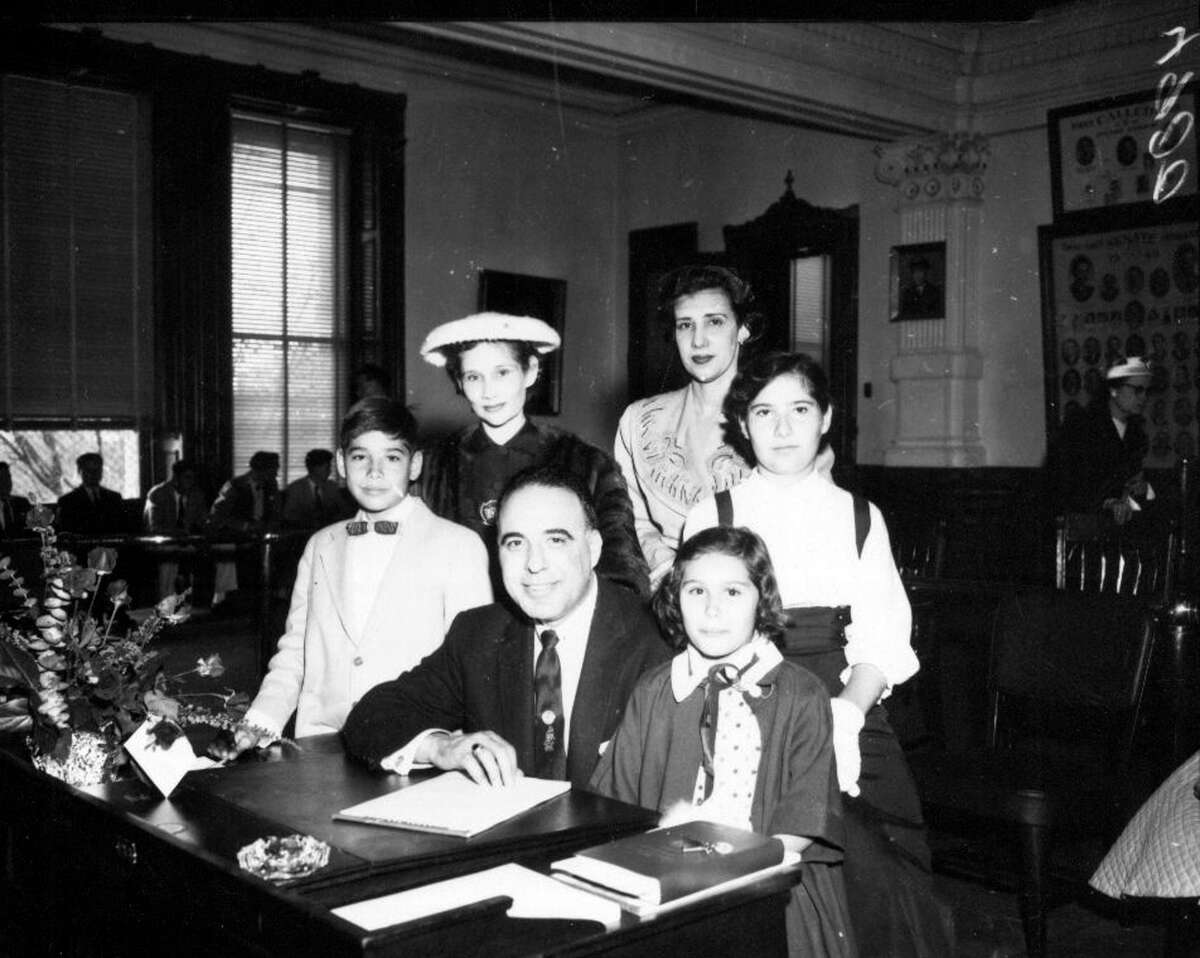 Henry B Gonzalez and family at the Texas Senate, undated.