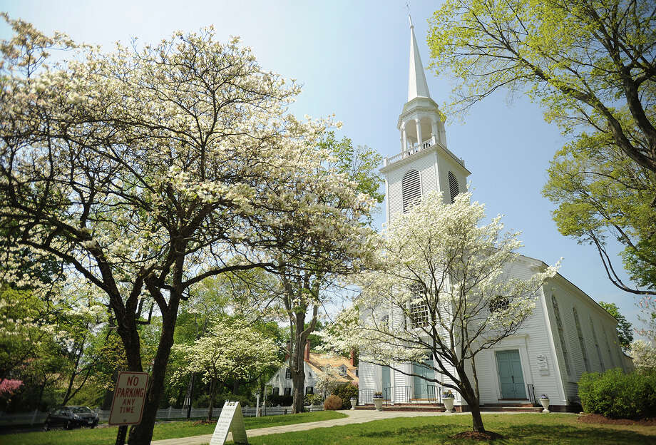 The dogwoods are in full bloom outside the Greenfield Hill Congregational Church in the Greenfield Hill section of Fairfield in this file photo. This year's Dogwood Festival is slated for Mother's Day weekend, May 6-8. Photo: Brian A. Pounds / Connecticut Post / Connecticut Post