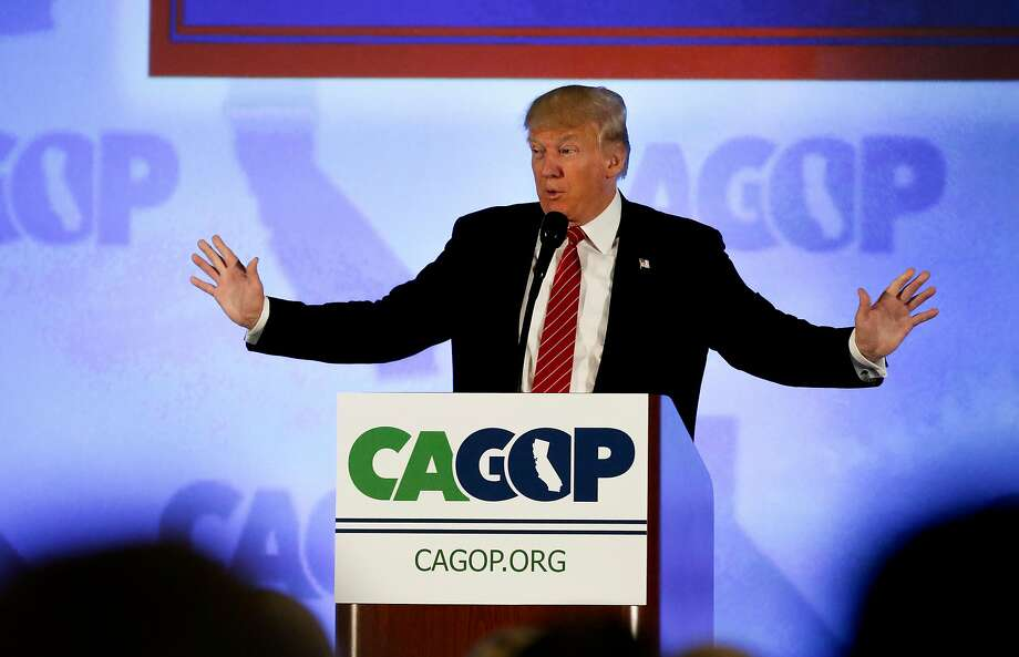 Republican Presidential candidate Donald Trump kicks off  the California Republican Party convention on Fri. April 29, 2016, in Burlingame, California. Photo: Michael Macor / The Chronicle