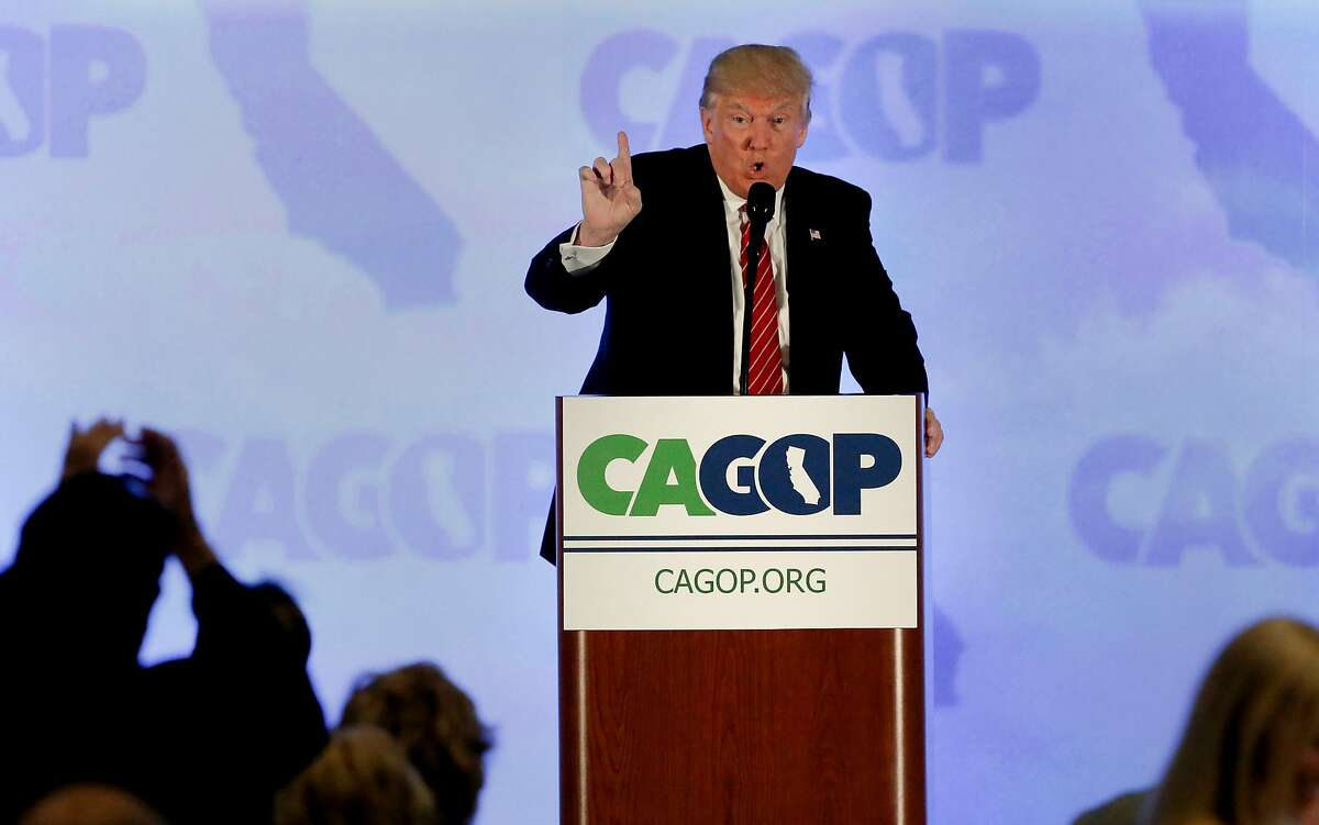 Donald Trump kicks off the California Republican Party Convention in Burlingame in August 2016.