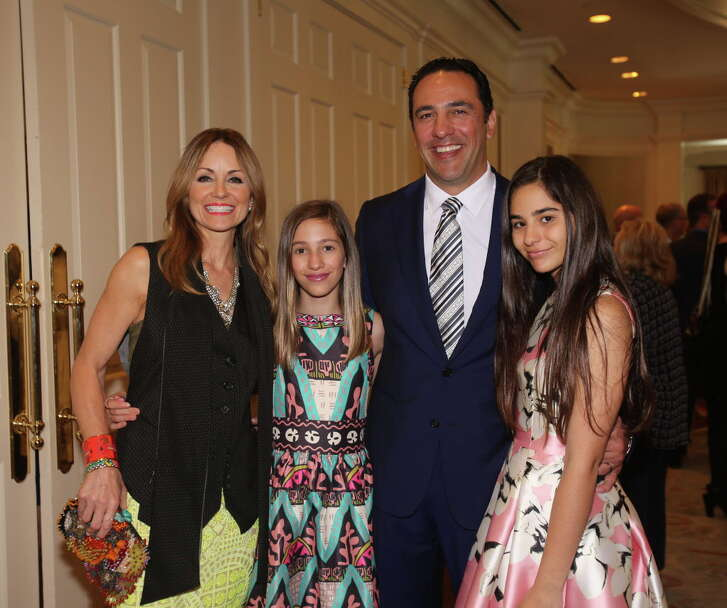 """Lucinda, Elena, Javier, and Ana Luca Loya at the Houston Arts Alliance's """"An Intimate Evening with Frank Sinatra."""""""
