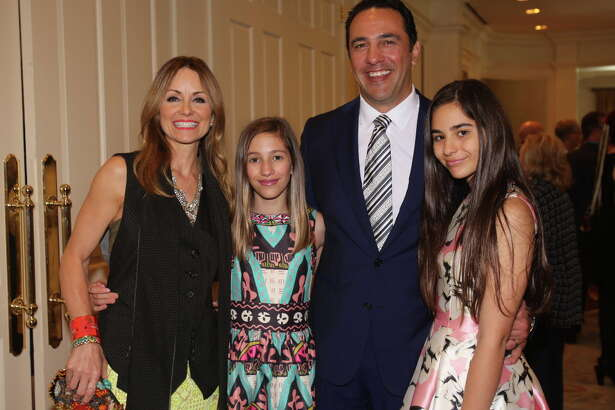 "Lucinda, Elena, Javier, and Ana Luca Loya at the Houston Arts Alliance's ""An Intimate Evening with Frank Sinatra."""