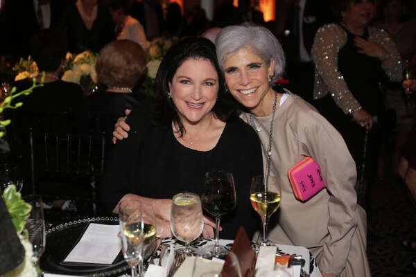 "Lea Weingarten and Judy Nyquist  at the Houston Arts Alliance's ""An Intimate Evening with Frank Sinatra."""