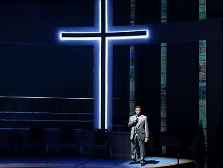 "Shawn Hamilton as Associate Pastor Joshua in Alley Theatre''s production of ""The Christians."" Photo: John Everett / John Everett"