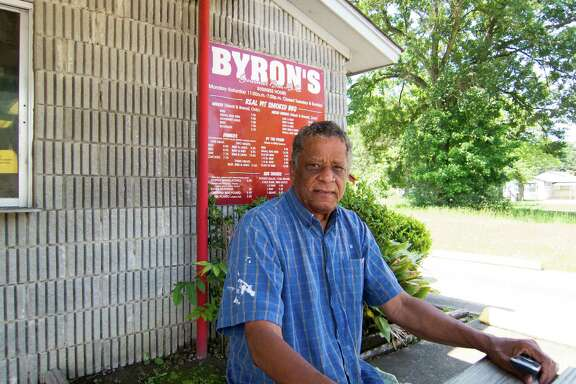 Owner and pitmaster Byron Johnson tweaked his grandfather's link recipe.