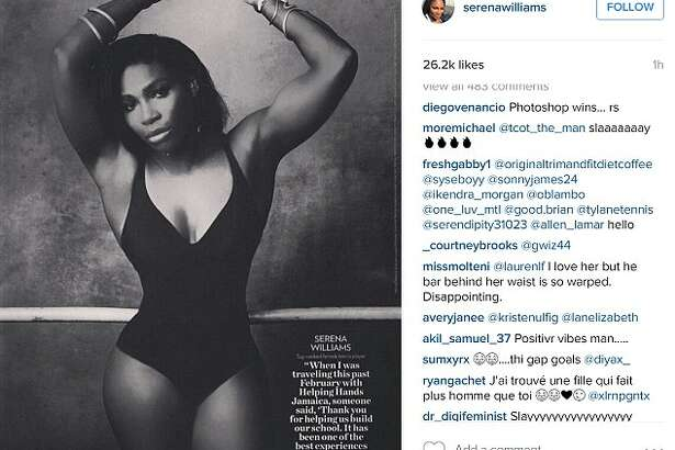Serena Williams' post of her People Magazine's Most Beautiful people had many fans question the authenticity of her waist - and called her out on it.