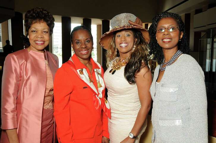 Honorees Carolyne Bradley Oliver, from left, Jewel Smith, Jonita Wallace Reynolds and Paulette Frederick