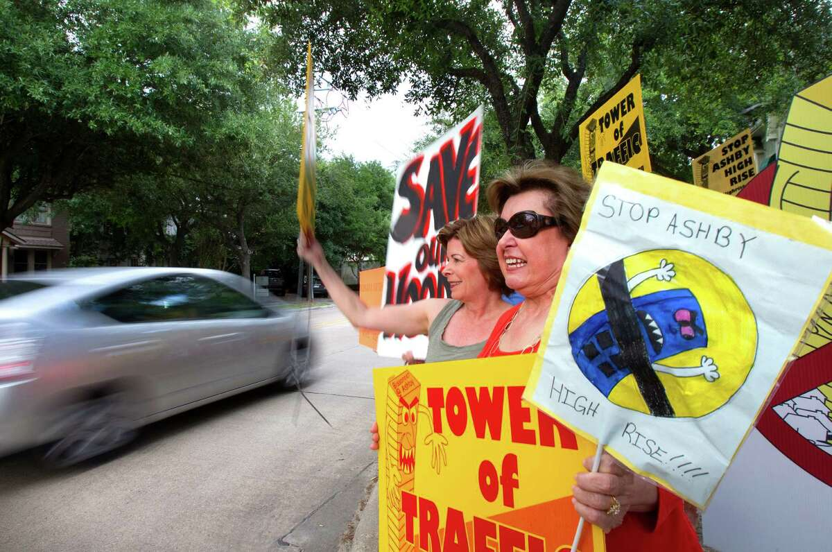 Protesters of the Ashby High Rise Wednesday, May 2, 2012, in Houston. (Cody Duty / Houston Chronicle)