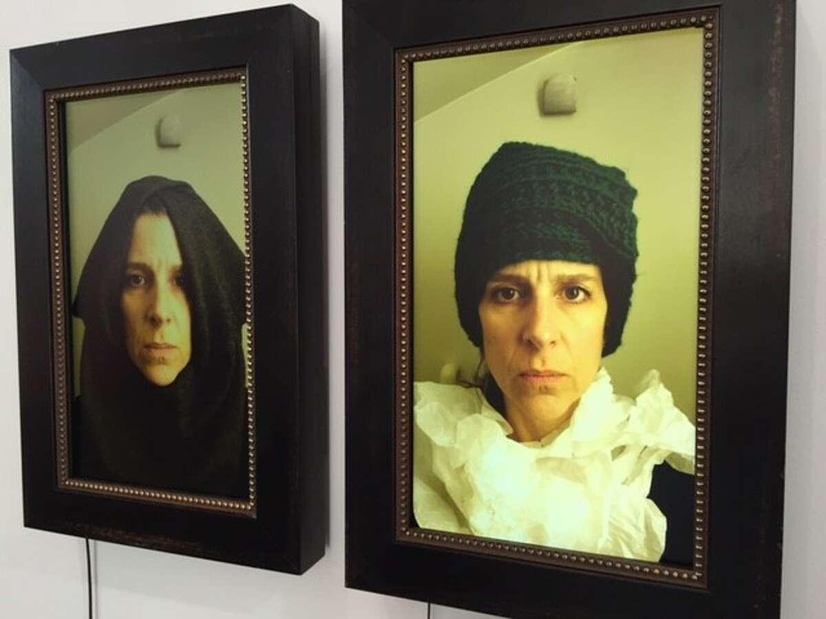 "Nina Katchadourian installation features her ""Flemish"" video selfie"