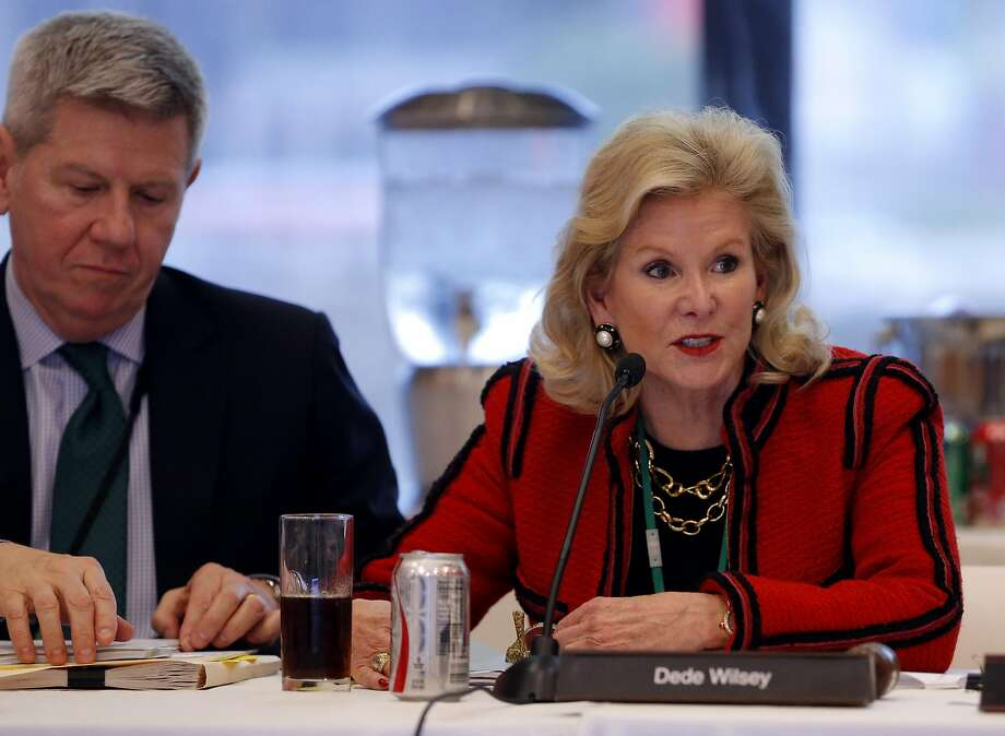 Dede Wilsey (right) speaks during a Board of Trustees for the Fine Arts Museums of San Francisco meeting at the de Young Museum in San Francisco, California, on Tuesday, Jan. 26, 2016. Photo: Connor Radnovich, The Chronicle
