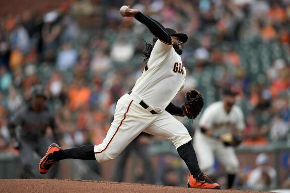 SAN FRANCISCO, CA - APRIL 21: Johnny Cueto #47 of the San Francisco Giants pitches against the Arizona Diamondbacks in the top of the first inning at AT&T Park on April 21, 2016 in San Francisco, California. (Photo by Thearon W. Henderson/Getty Images)