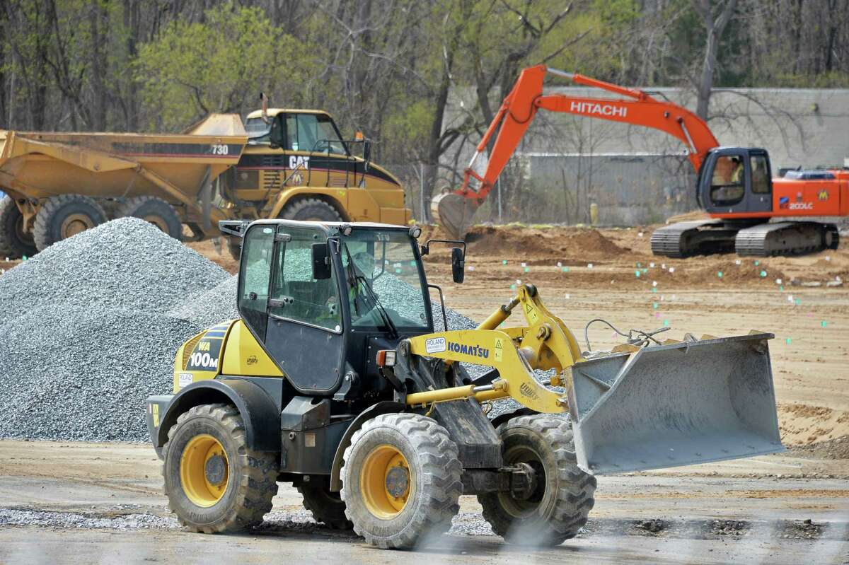 Construction begins on the new CarMax dealership on Central Avenue Friday April 29, 2016 in Colonie, NY. (John Carl D'Annibale / Times Union)