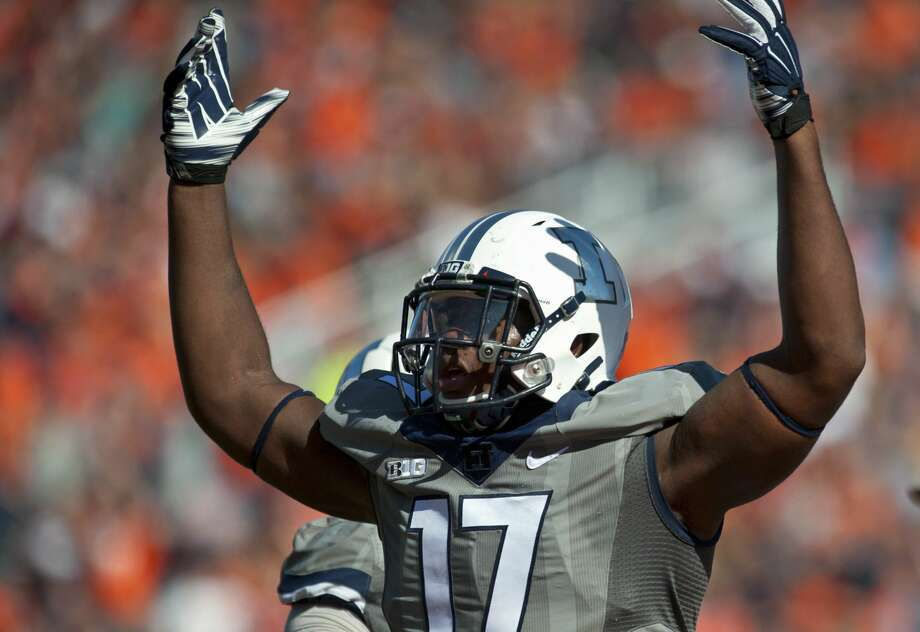 The Raiders drafted Illinois defensive end Jihad Ward.  Photo: AP