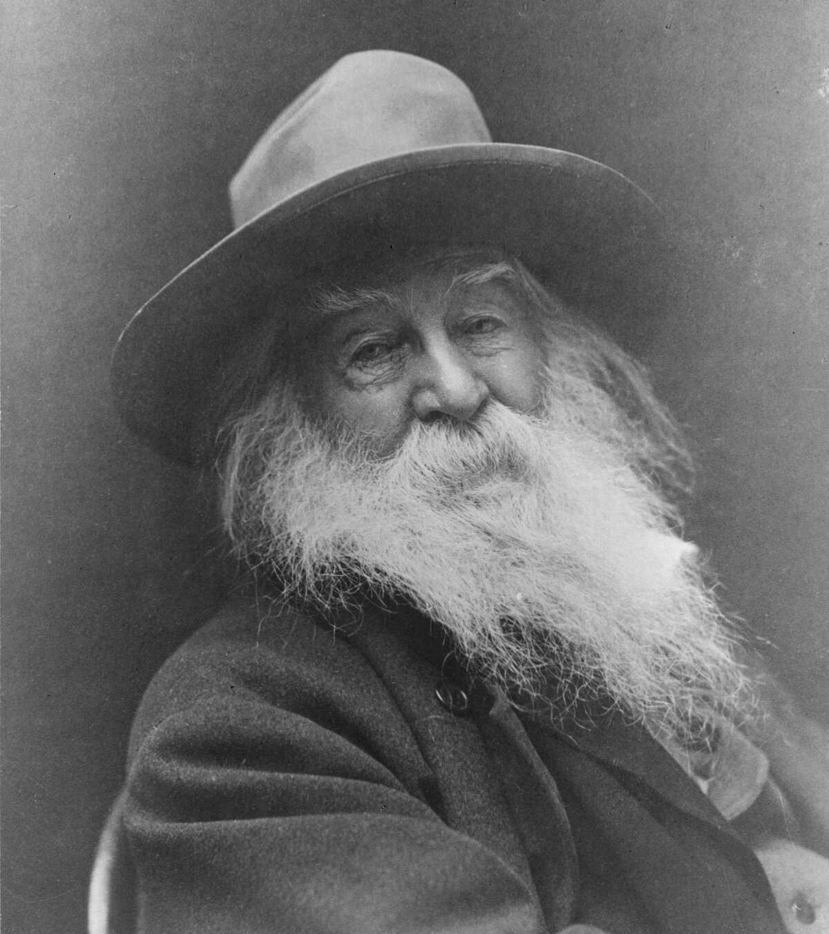In an undated handout photo, Walt Whitman in 1887. A nearly 47,000-word journalistic series written by Whitman called ?Manly Health and Training,? which had been lost for more than 150 years, will be published online by a scholarly journal in 2016, in what some experts are calling the biggest new Whitman discovery in decades. (National Archives via The New York Times) -- EDITORIAL USE ONLY