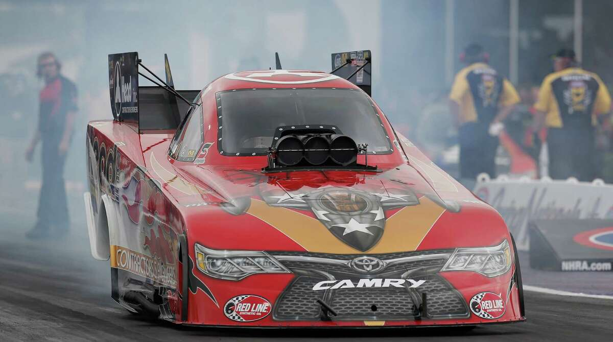 Funny Car driver Chad Head qualified with a time of 3.972 during the 29th annual NHRA Spring Nationals at the Royal Purple Raceway on Friday, April 29, 2016 in Baytown, TX.